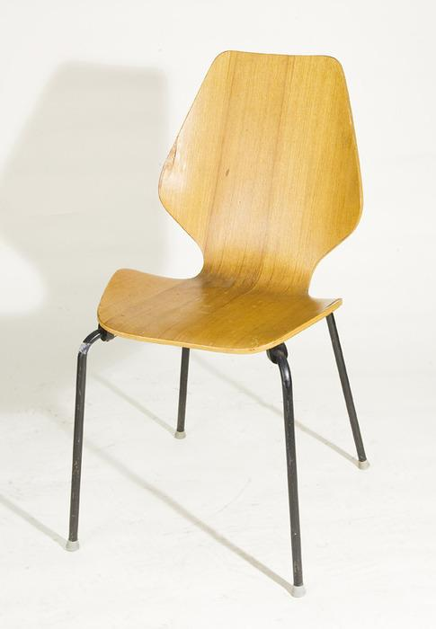 Image 1 Mid Century Modern Bentwood Dining Chair With Black Metal Legs