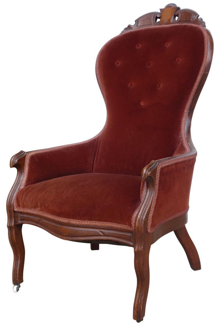 Victorian High Back Chair Original To The Belvedere House Next Door Gen Loading Zoom