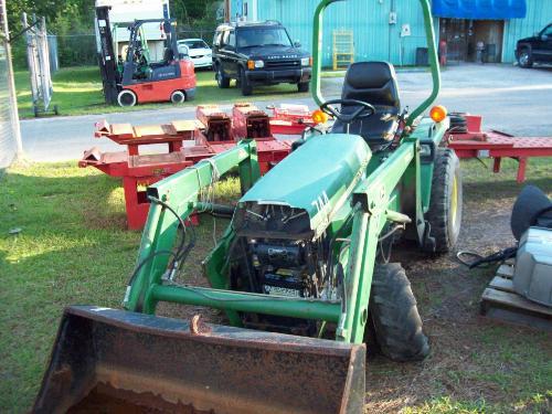 Image 1 John Deere 855 Tractor W Frt End Loader Attachment