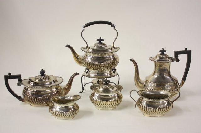 Sheffield Silver Plated Tea Coffee Set Loading Zoom