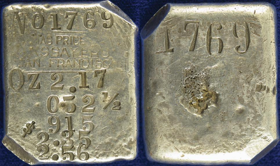 Image 1 San Francisco Ca C1860 1870 Thomas Price Silver Ingot
