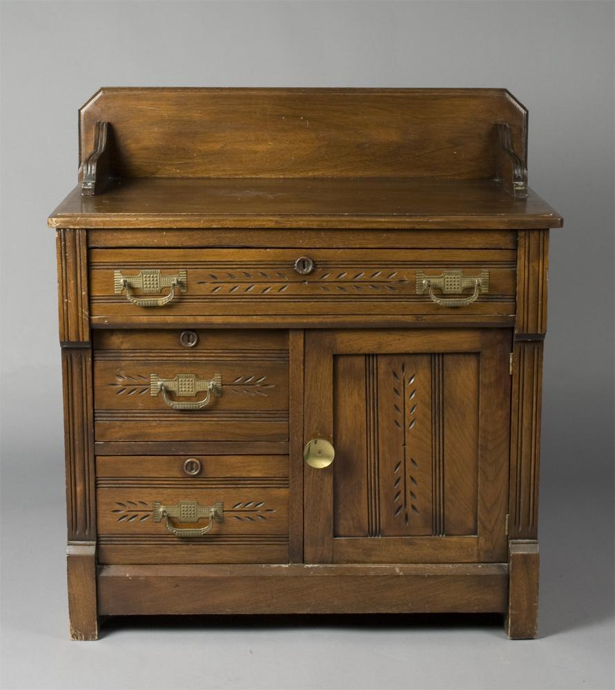 antique oak wash stand Antique Oak Eastlake Wash Stand antique oak wash stand