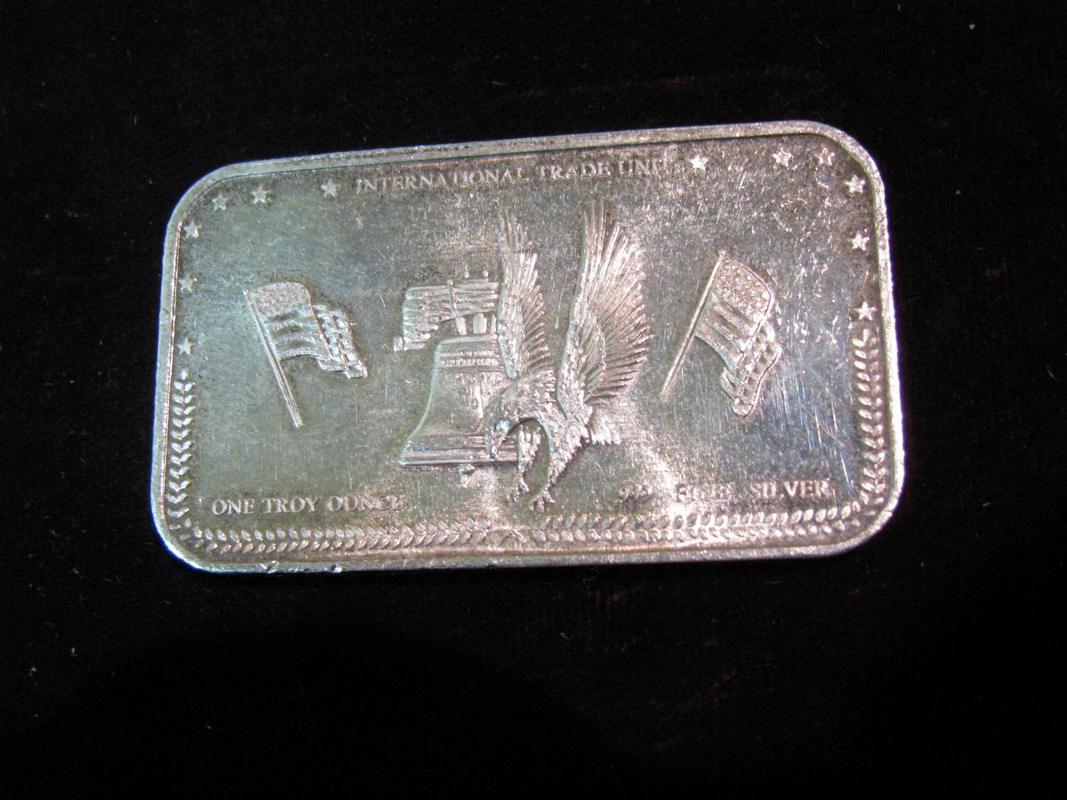 Image 1 1487 International Trade Unit One Troy Ounce 999 Fine Silver