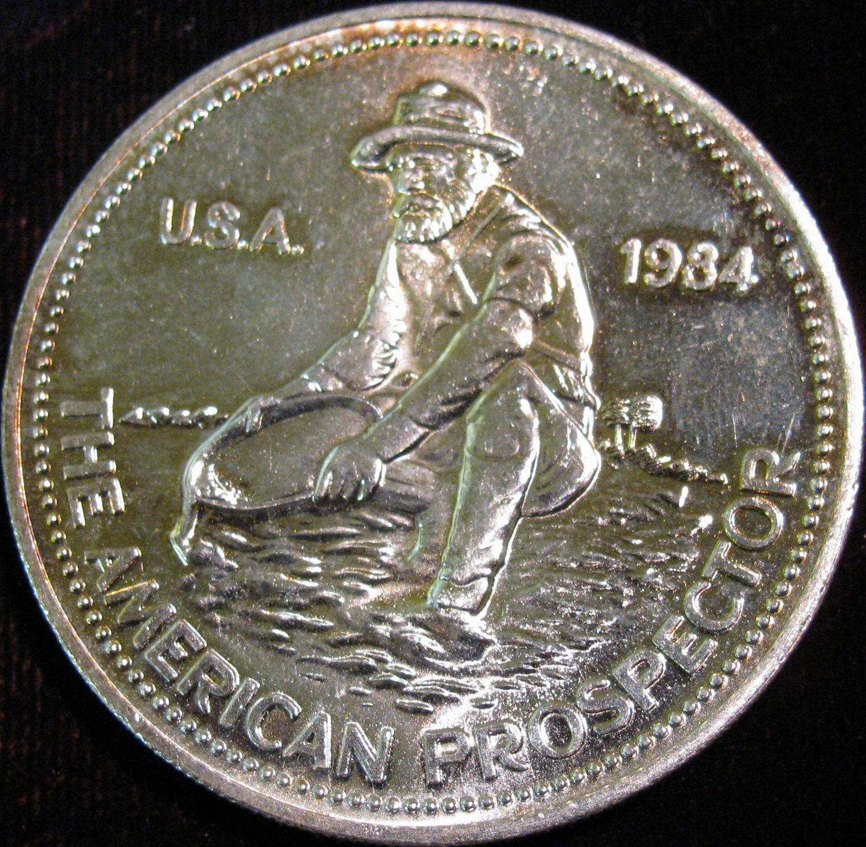 1984 American Prospector Engelhard One Troy Ounce 999 Fine Silver Image 2