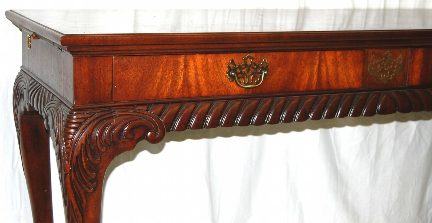 Image 2 Mount Airy Furniture Company Sofa Console Table W Carved Ornate Detail Work