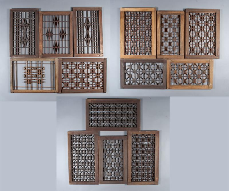 Image 1 14 Chinese Carved Wood Window Panels